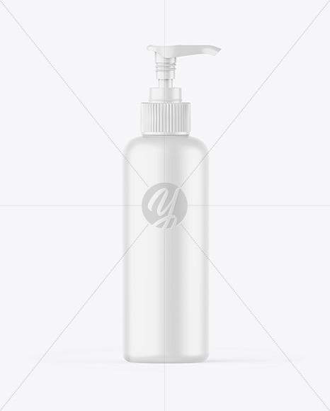 Matte Bottle w/ Open Pump Mockup