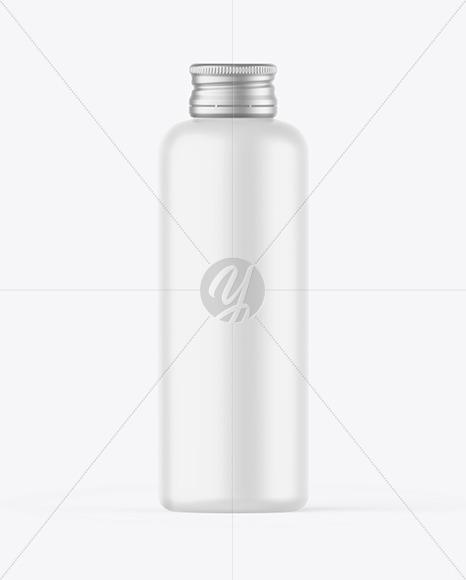Matte Bottle w/ Metallic Cap Mockup