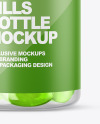 Clear Bottle with Soft Gel Capsules Mockup