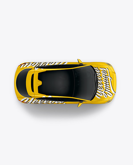Electric Crossover SUV Mockup - Top View