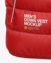 Matte Nylon Men's Down Vest Mockup