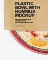 Plastic Bowl With Hummus Mockup