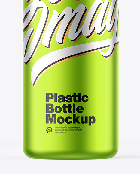 Matte Metallic Bottle w/ Closed Pump Mockup