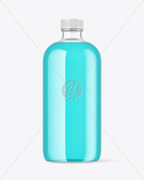 Color Liquid Bottle Mockup