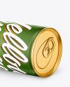 Metallic Drink Can w/ Matte Finish Mockup