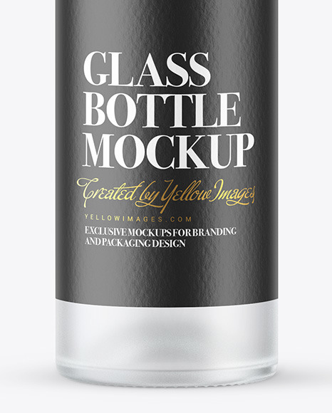Frosted Glass Vodka Bottle Mockup