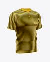 Men's Short Sleeve Henley Shirt Mockup