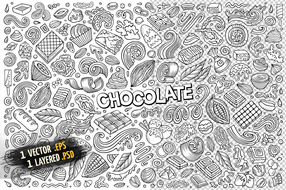 Chocolate Objects & Symbols Set