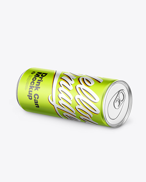 Matte Metallic Drink Can Mockup