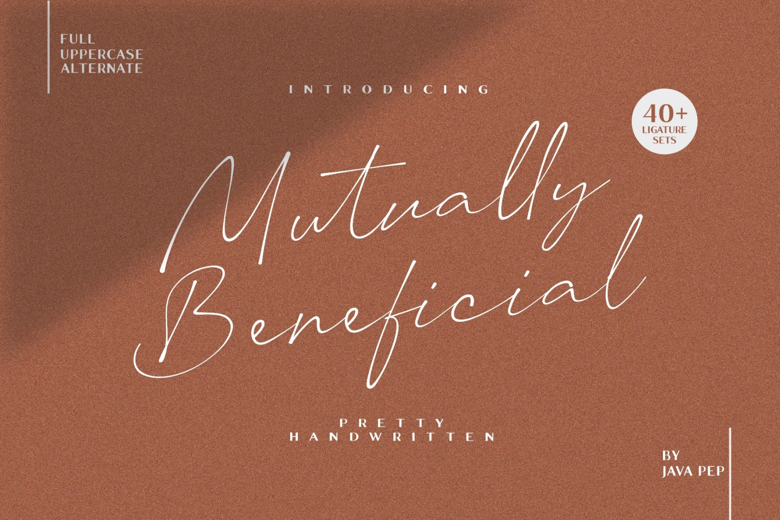 Mutually Beneficial Font
