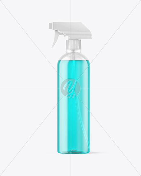 Color Liquid Spray Bottle Mockup
