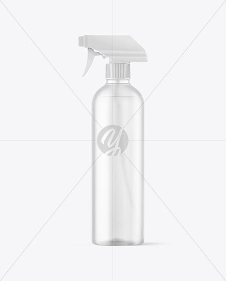 Frosted Spray Bottle Mockup