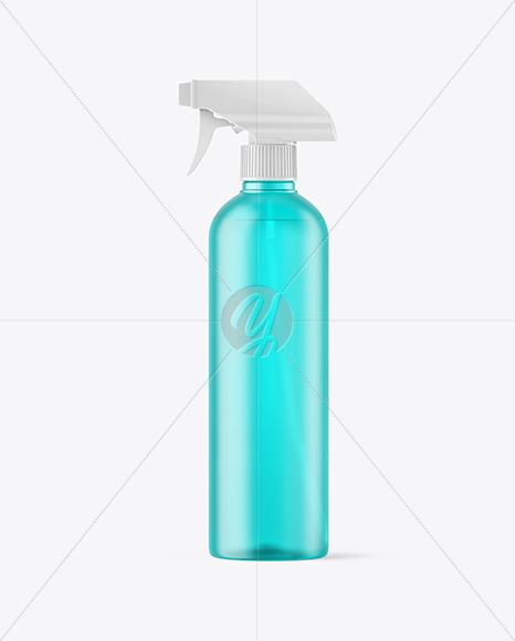 Frosted Color Plastic Spray Bottle Mockup