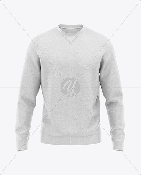 Long Sleeve Heather Sweatshirt - Front View