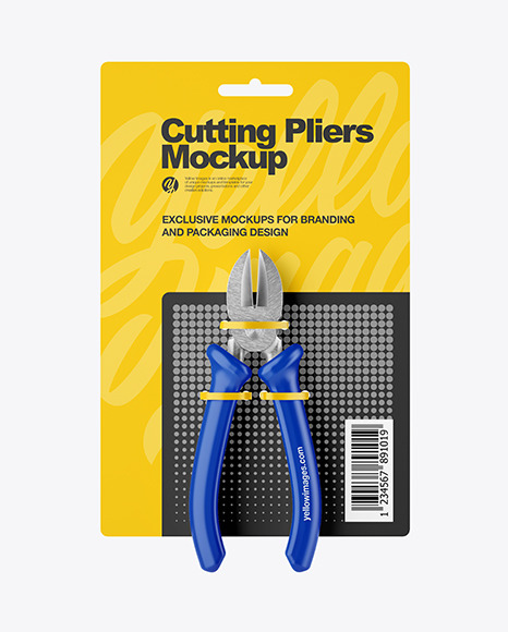 Cutting Pliers Mockup - Front View