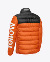 Matte Nylon Men's Down Jacket Mockup