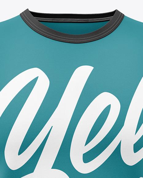 Men's Heather Sleeveless Shirt Mockup - Front View