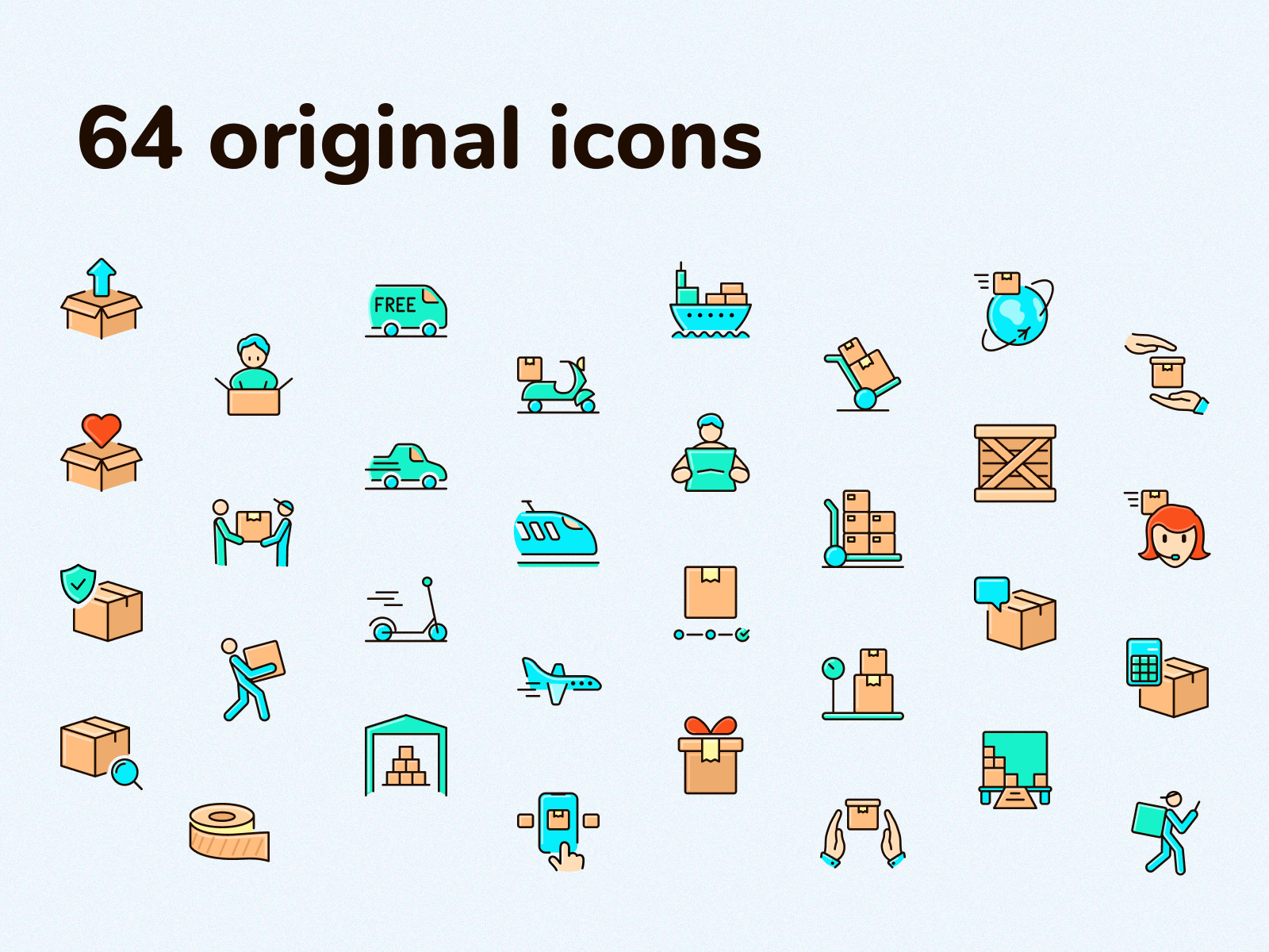 Fast Delivery Icons Pack