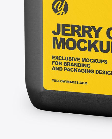 Textured Jerrycan Mockup