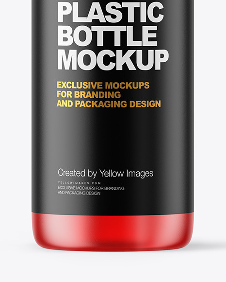 Frosted Color Plastic Bottle with Pump Mockup