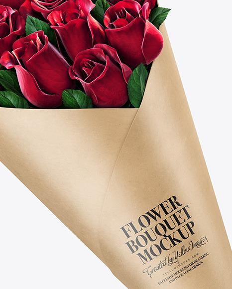 Kraft Flower Bouquet Mockup