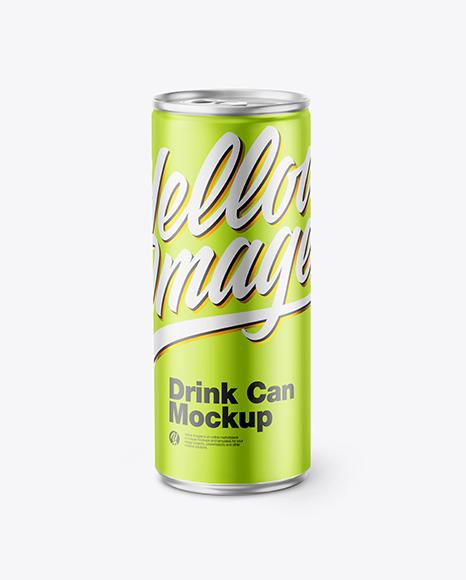 Matte Metallic Drink Can Mockup