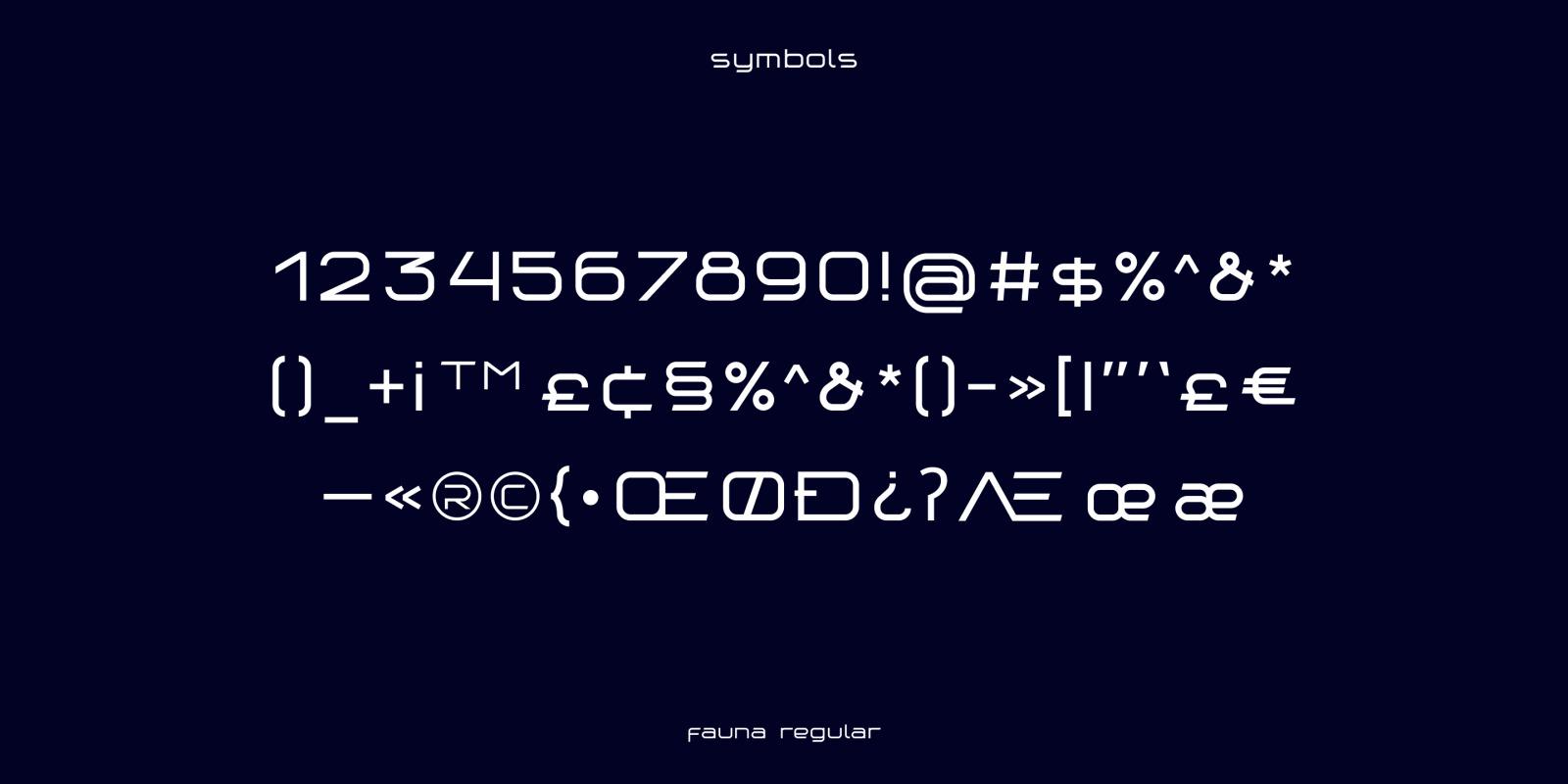 Fauna – Futuristic Font