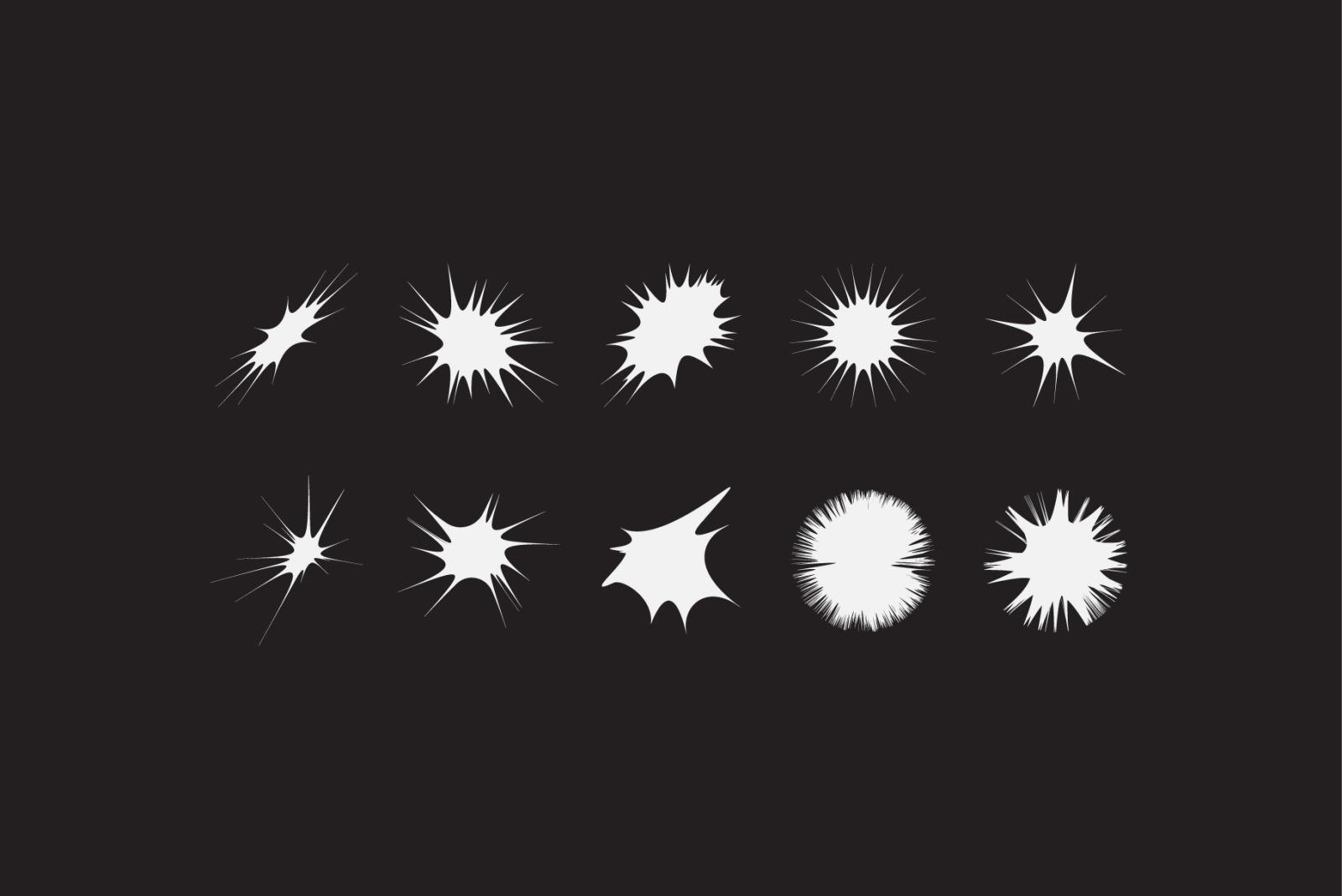 100 Geometric Vector Star Shapes