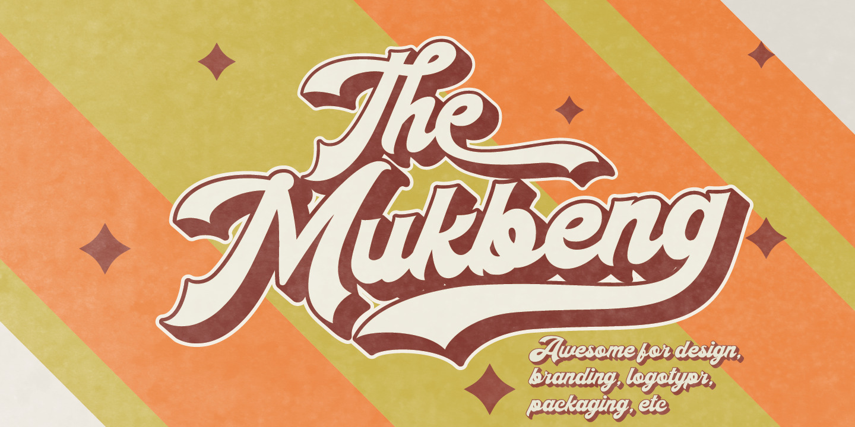The Mukbeng Font