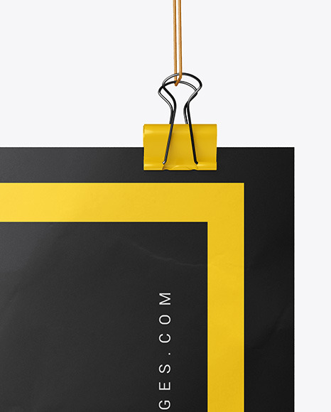 Crampled Poster A3 w/ Pins Mockup
