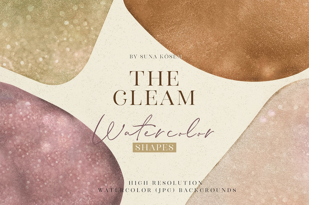 THE GLEAM WATERCOLOR SAHAPES