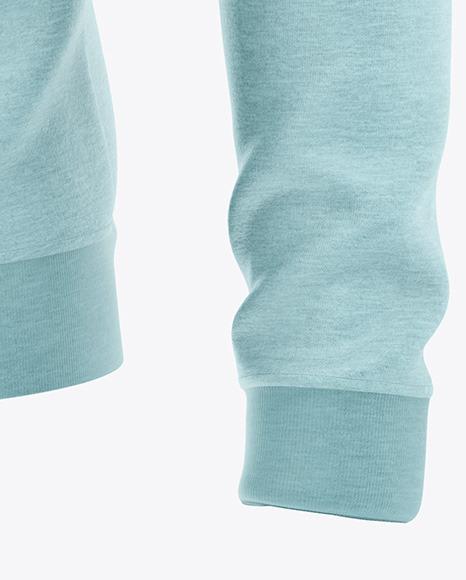 Long Sleeve Heather Sweatshirt  - Front Half Side View