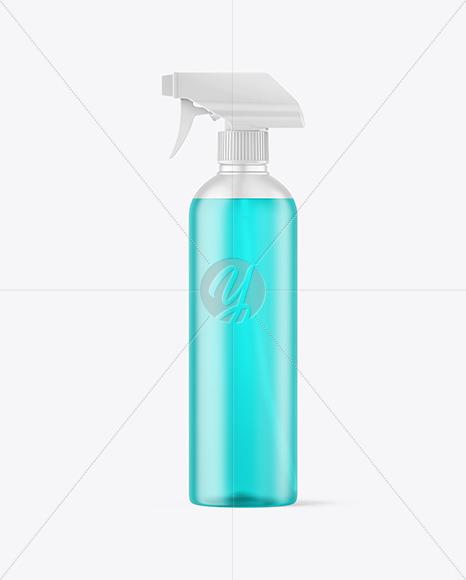 Frosted Color Liquid Spray Bottle Mockup