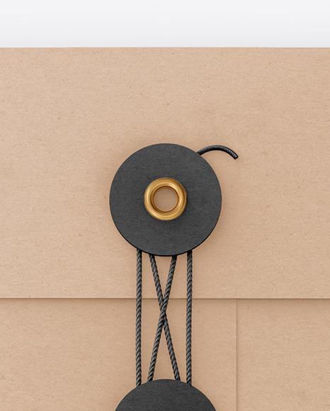 Kraft Paper Envelope With String Mockup