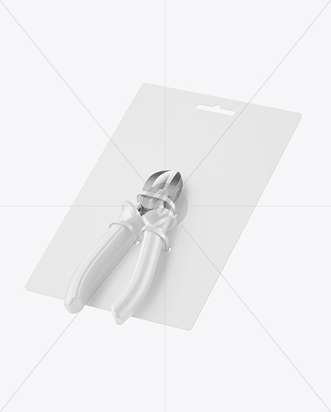 Cutting Pliers Mockup - Half Side View