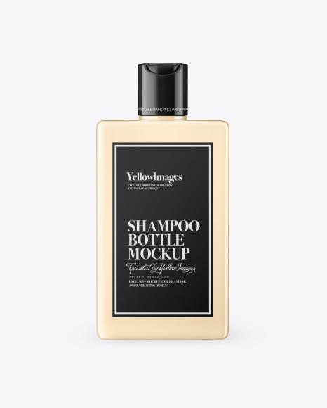 Clear Plastic Shampoo Bottle Mockup