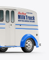 Delivery Truck Mockup - Half Side View (Front)