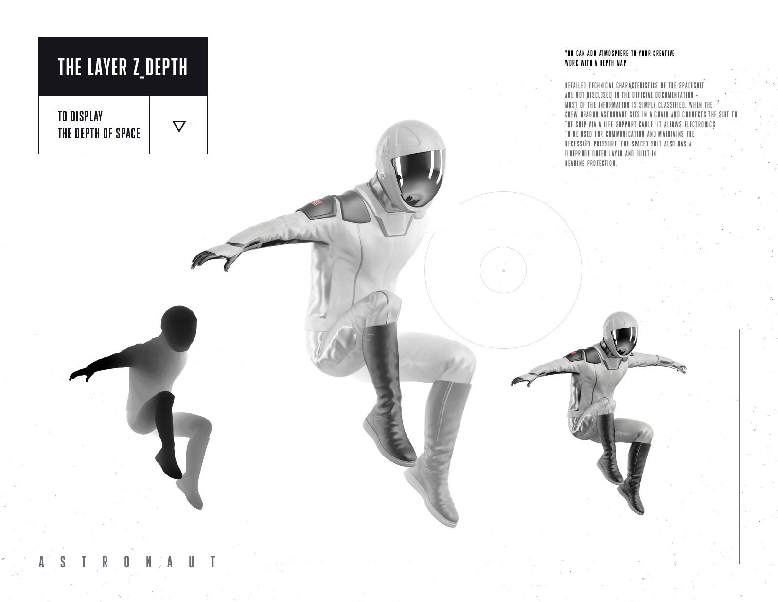PSD Mockup 3D model SpaceX Astronaut #18