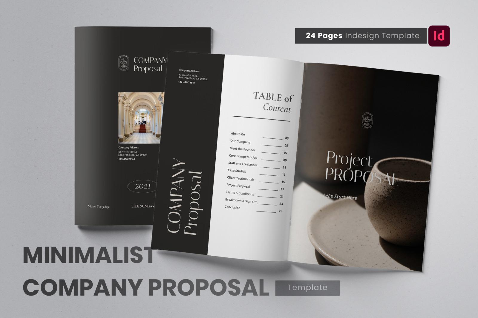 Minimalist Monochromatic Company Proposal