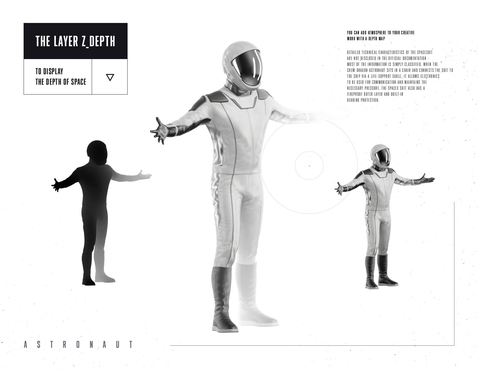 PSD Mockup 3D model SpaceX Astronaut #51