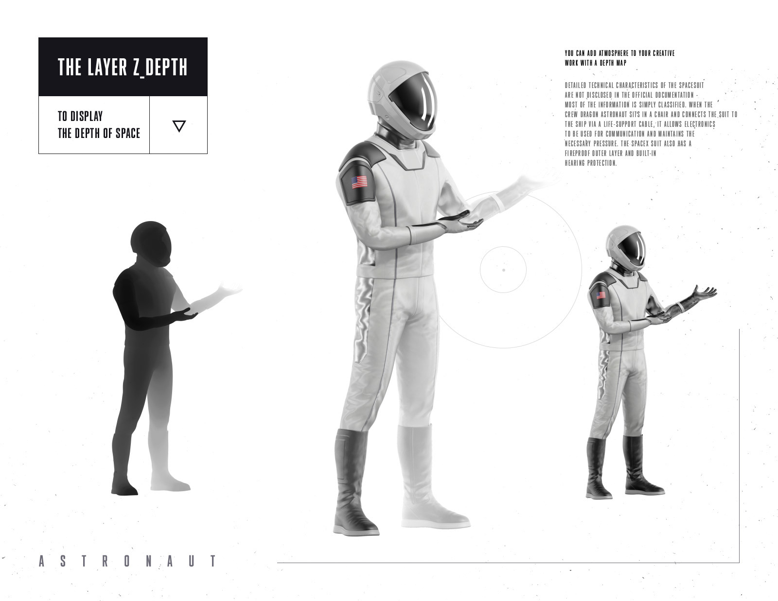 PSD Mockup 3D model SpaceX Astronaut #54