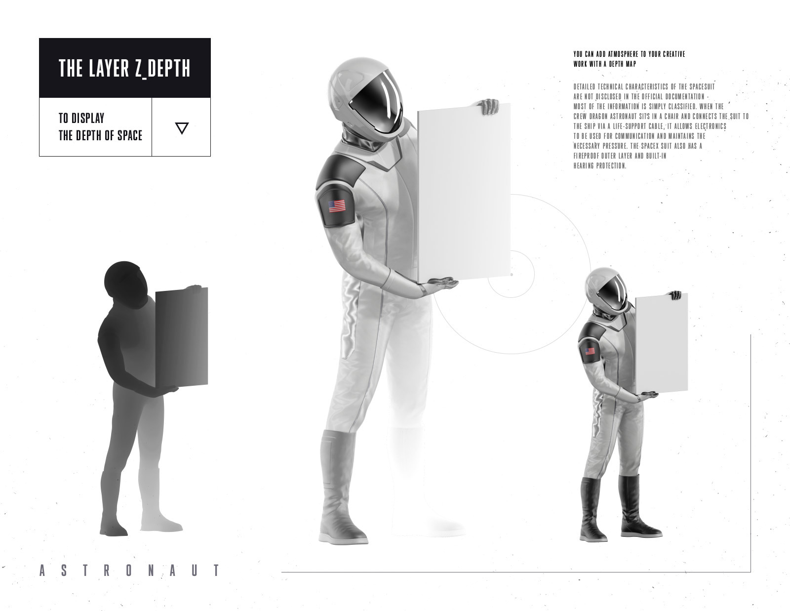 PSD Mockup 3D model SpaceX Astronaut #55