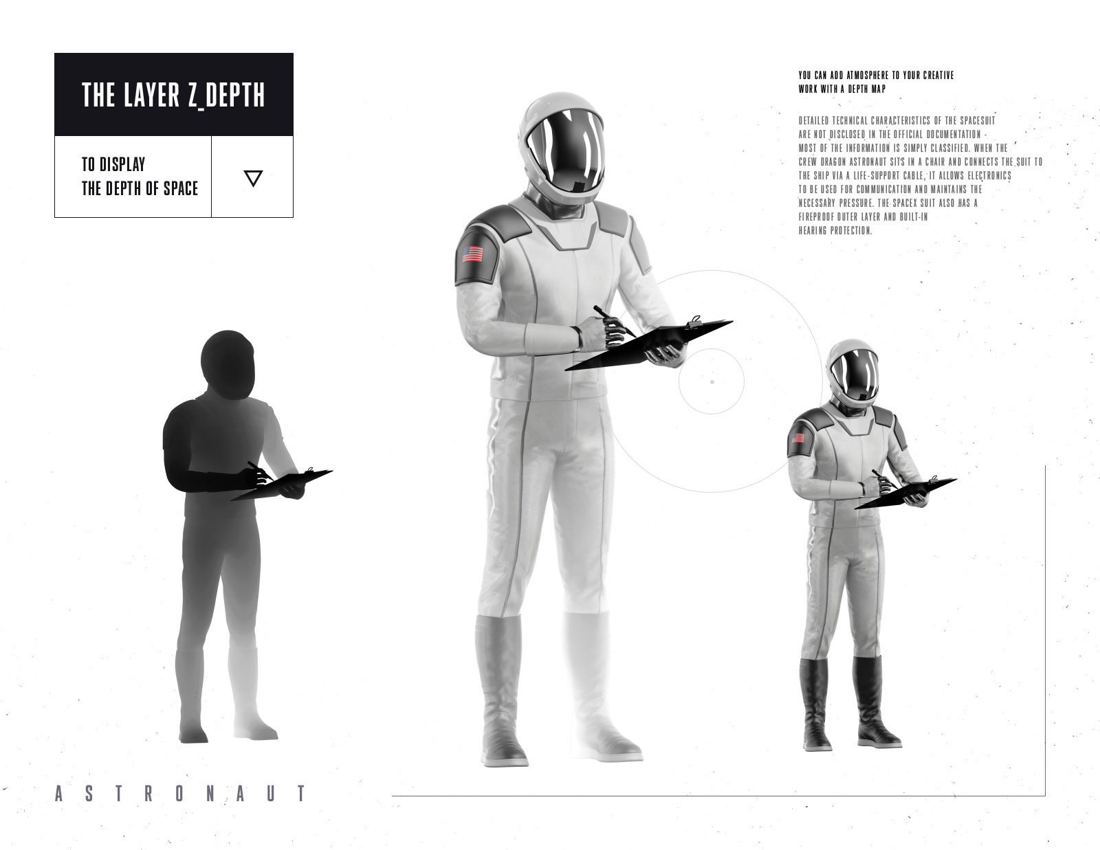 PSD Mockup 3D model SpaceX Astronaut #56