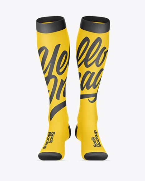 Long Socks Mockup