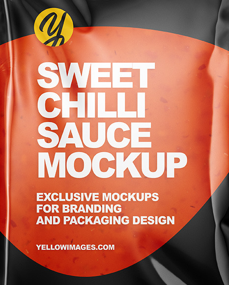 Sweet Chilli Sauce Package Mockup