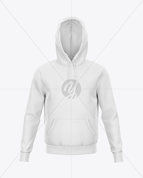 Hoodie Mockup with Ribbing - Front View