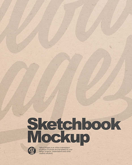 Kraft Paper Sketchbook Mockup