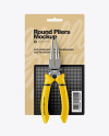 Round Pliers Mockup - Front View