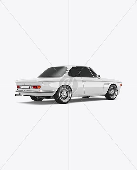 Coupe Car Mockup - Bak Half Side View - Yellowimages Mockups