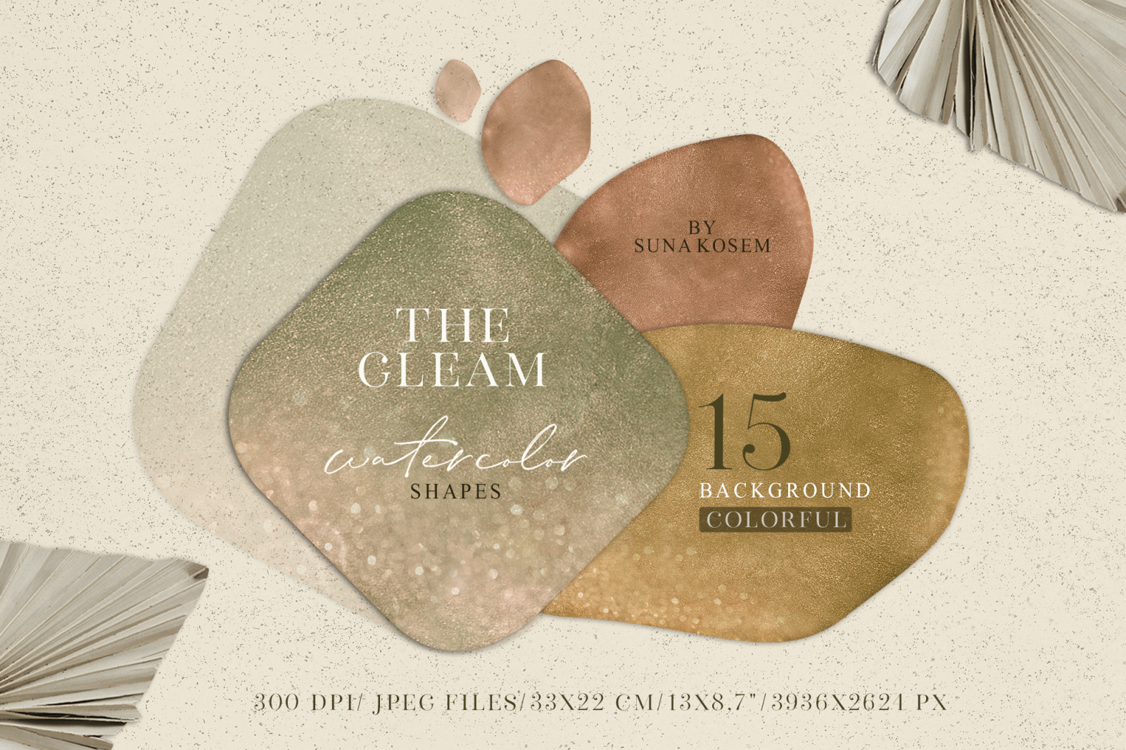 The Gleam Watercolor Shapes